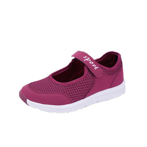 Spring Women Shoes Summer Female Breathable Mesh Cloth Anti-Slip Sneakers Fashion 124496 Purple / Us