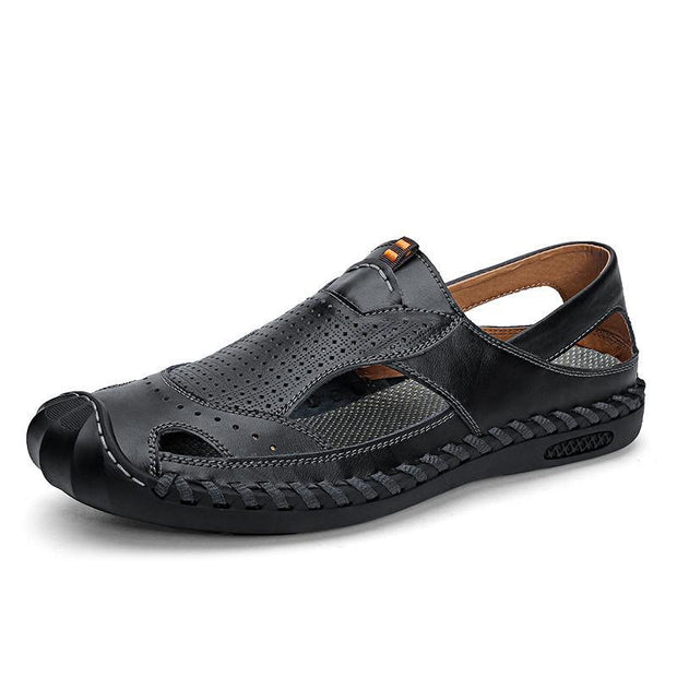 Mens Casual Fashion Comfortable Outdoor Beach Shoes Hollow Sandals 124813 Black / Us 6 Men Shoes