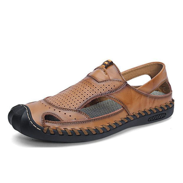 Mens Casual Fashion Comfortable Outdoor Beach Shoes Hollow Sandals 124813 Brown / Us 6 Men Shoes