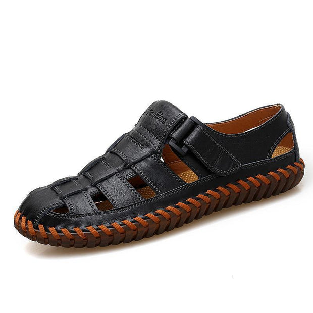 Mens Casual And Comfortable Outdoor Flat With Soft Waterproof Sandals 124951 Black / Us 6 Men Shoes