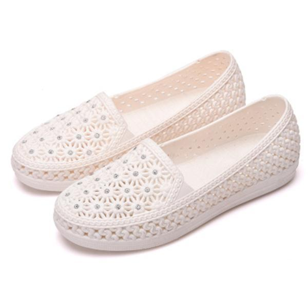 New Fashion Female Hollow Shoes More Color Choice Women Flat 124963 White / Us 5