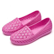 New Fashion Female Hollow Shoes More Color Choice Women Flat 124963 Pink Purple / Us 5