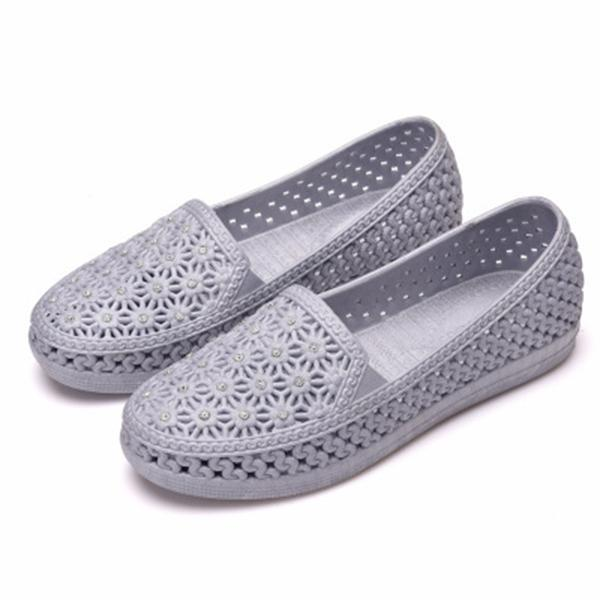 New Fashion Female Hollow Shoes More Color Choice Women Flat 124963 Gray / Us 5