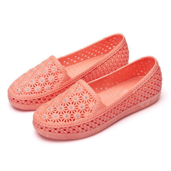 New Fashion Female Hollow Shoes More Color Choice Women Flat 124963 Apricot / Us 5