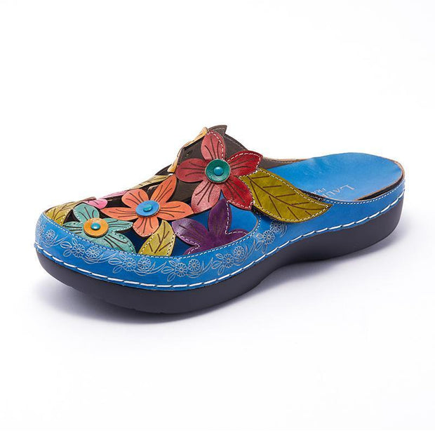 122191 LAURA VITA BILLY 52 Retro Genuine Leather Handmade PAINTED VELCRO Original Comfortable SANDAL