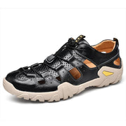 Mens Metal Button Breathable Non-Slip Outdoor Sport Hiking Sneakers 125679 Black / Us 6.5 Men Shoes