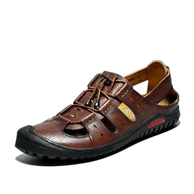 Mens Casual Trend Outdoor Handmade Shoes Waterproof And Wearable Sandals 125846 Brown / Us 6 Men