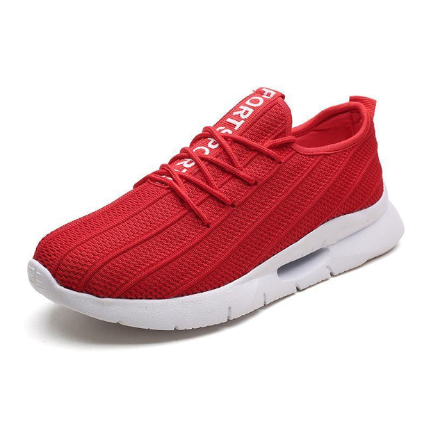 Mens Knit Casual Shoes Fashion Wild Sports Outdoor Breathable Running 127267 Red / Us 7.5 Men Shoes