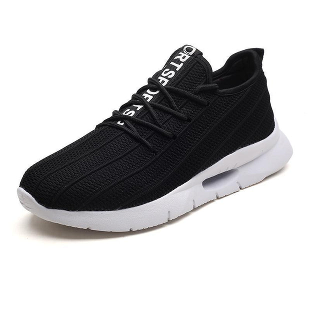 Mens Knit Casual Shoes Fashion Wild Sports Outdoor Breathable Running 127267 Black / Us 7.5 Men