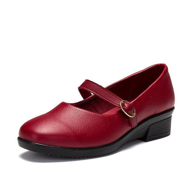 Woman Casual Shoes 127753 Red Buckle / Us 4 Women Shoes