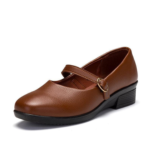 Woman Casual Shoes 127753 Brown Buckle / Us 4 Women Shoes