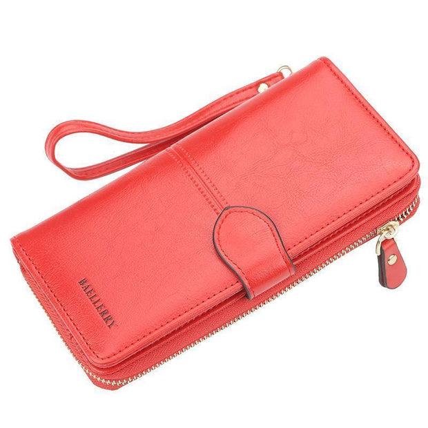 Large Capacity Multi-Function Wallet 127842 Red Women Bags Luggages