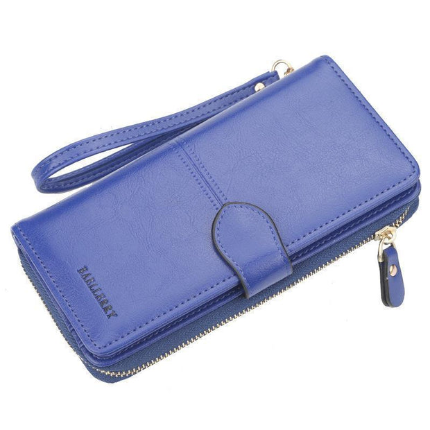Large Capacity Multi-Function Wallet 127842 Blue Women Bags Luggages