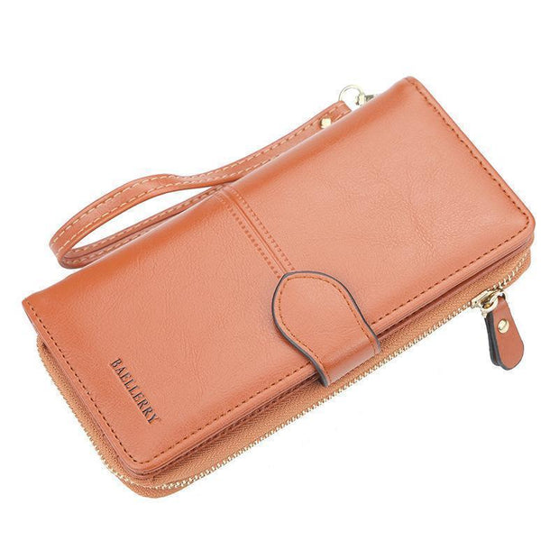 Large Capacity Multi-Function Wallet 127842 Brown Women Bags Luggages