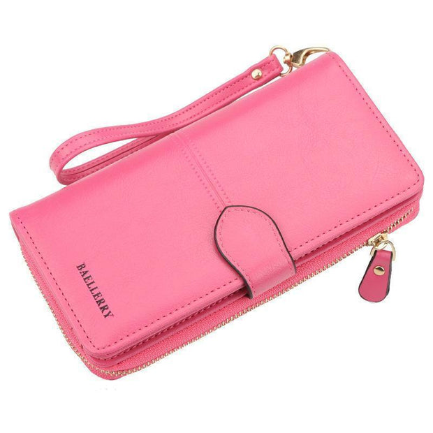 Large Capacity Multi-Function Wallet 127842 Rose Red Women Bags Luggages