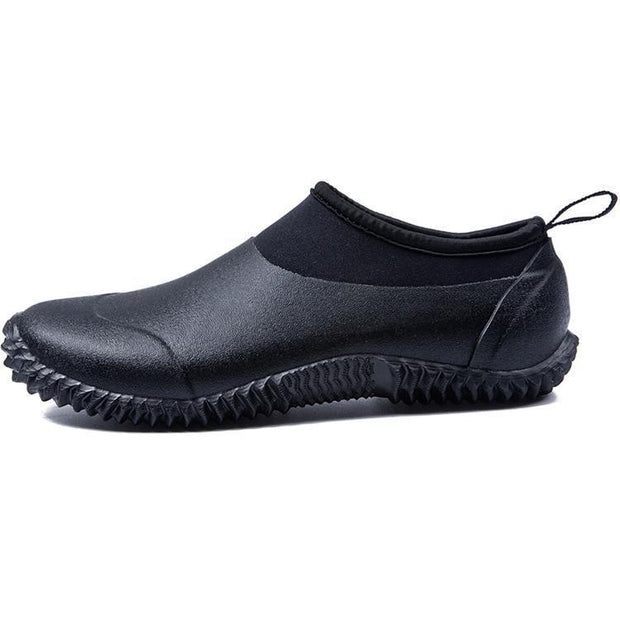 Waterproof Mens Garden Shoes Outdoor Rain Boots Car Wash Neoprene Footwear 127968 Black / Us 4.5 Men