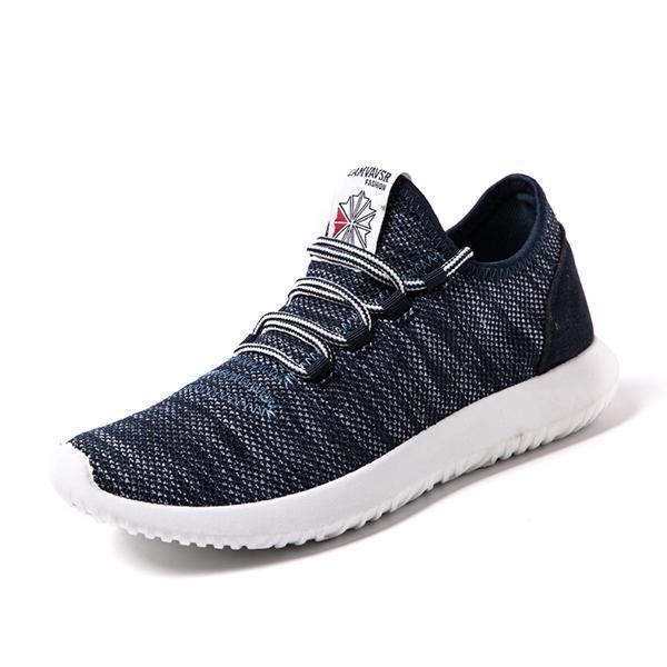 Summer Mens Fashion Wild Outdoor Flying Woven Sports Shoes Non-Slip Wearable Casual 128028 Black /