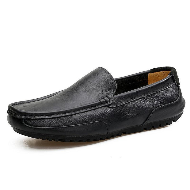 Mens Fashion Summer Outdoor Cowhide Casual Shoes Non-Slip And Wear-Resistant Soles 128402 Black / Us