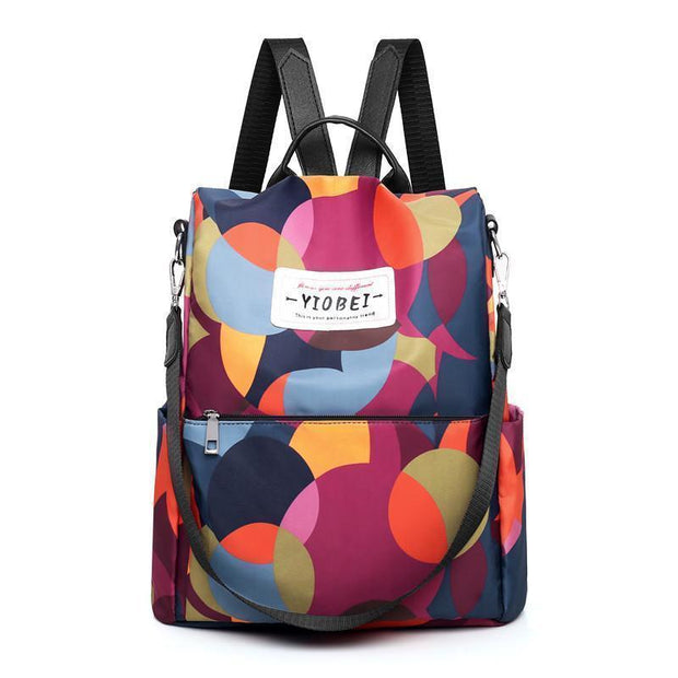 Oxford Printing Design Anti Theft Backpack 129642 And Colour Women Bags Luggages
