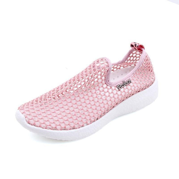 Women Fashion Casual Hollow Flat Soft Comfortable Walking Shoes 130278 Pink / Us 5
