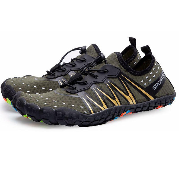 Mens Casual Quick Drying Sports Barefoot Water Shoes 131272 Green / Us 6.5 Men