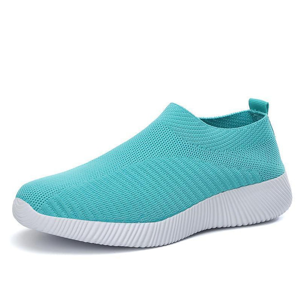 Women Flats Creeper Breathable Mesh Casual Sneakers Ballet 132446 Blue / Us 4 Shoes