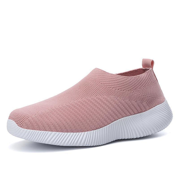 Women Flats Creeper Breathable Mesh Casual Sneakers Ballet 132446 Pink / Us 4 Shoes