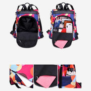 Oxford Printing Design Anti Theft Backpack Women Bags Luggages