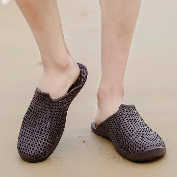 Mens Slippers Half Hole Shoes 132548 Men