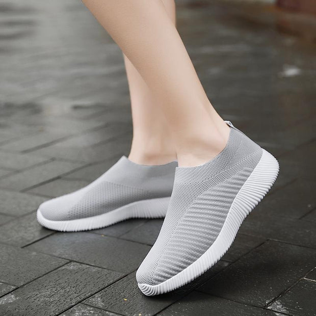 Women Flats Creeper Breathable Mesh Casual Sneakers Ballet Shoes
