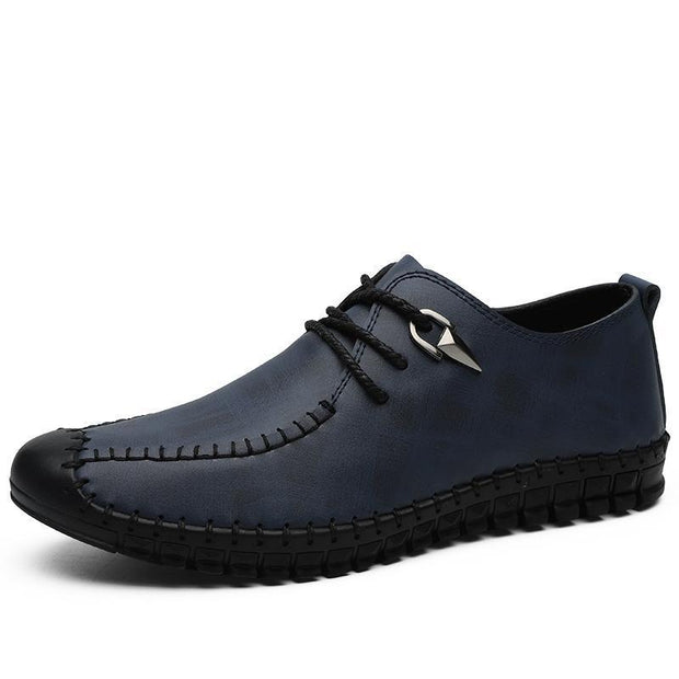 Mens Summer Loafers Lace Up Casual Big Size Shoes 132918 Blue / Us 6 Men Shoes