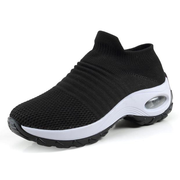 Womens Summer Breathable Soft Air Cushion Sports Shoessecond -30% By Codebts30 133301 Black / Us 4