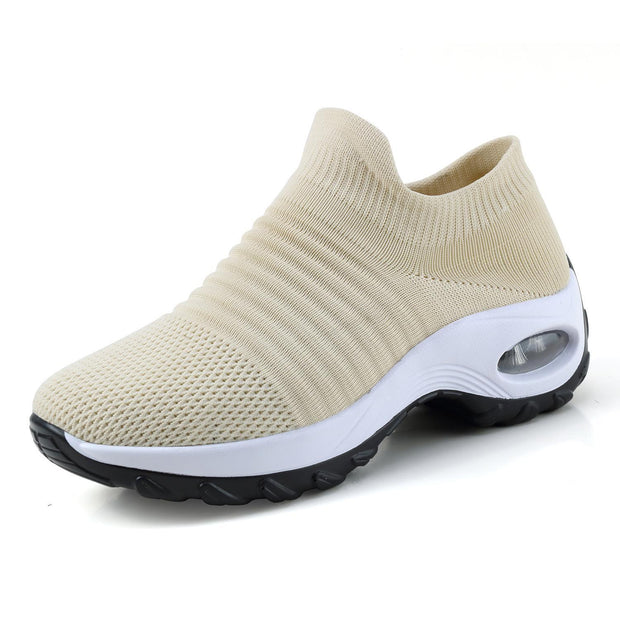 Womens Summer Breathable Soft Air Cushion Sports Shoessecond -30% By Codebts30 133301 Beige / Us 4
