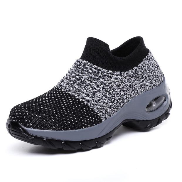 Womens Summer Breathable Soft Air Cushion Sports Shoessecond -30% By Codebts30 133301 Black & Gray /