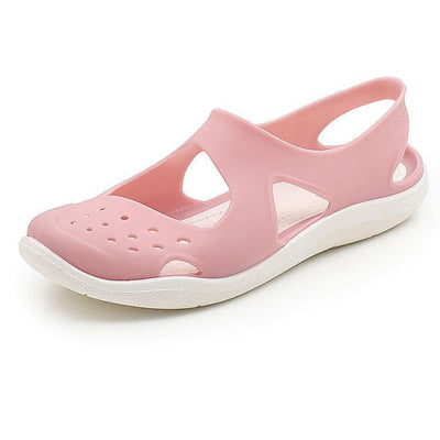 Women Jelly Sandals Shower Swim Pool Beach River Shoes Flat Non-Slip Soft Hole Shoes Aqua Comfort