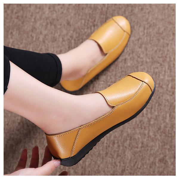 Casual Flat Shoes Driving Office Moccasins Leather Peas Large Size Womens Boat 126930 Women