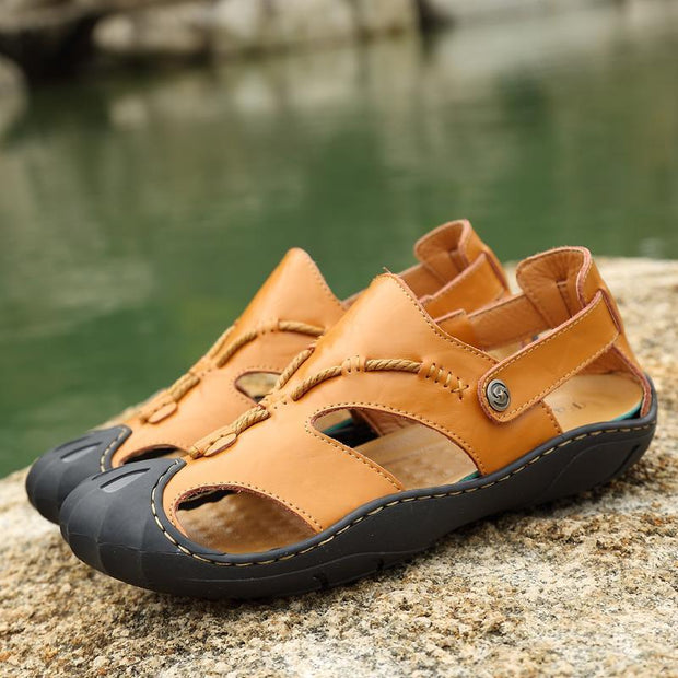 High Quality Mens Summer Leather Sandals Outdoor Sports Beach Shoes Casual 118689 Men