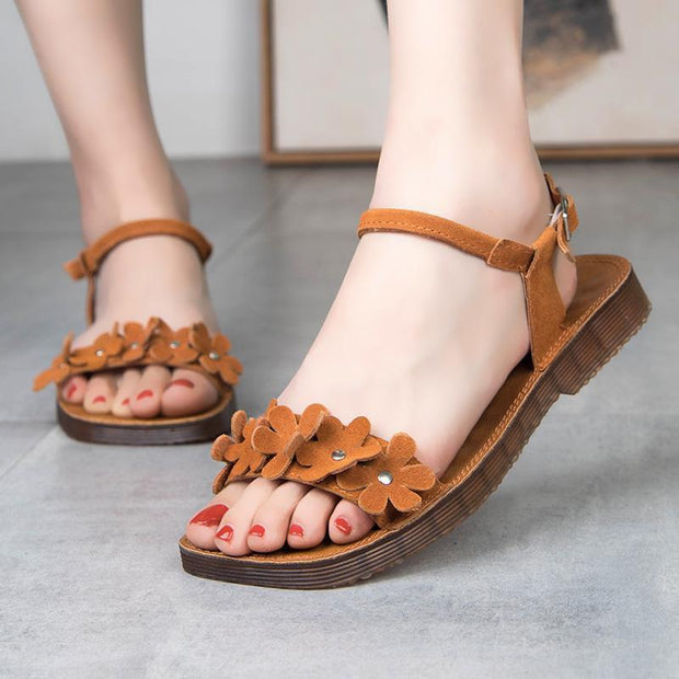 Ladies Summer Flower Casual Sandals 128719 Women Shoes