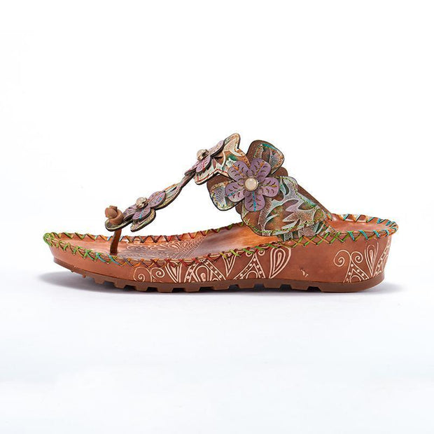Laura Vita Beata Retro Genuine Leather Handmade Painted Velcro Original Comfortable Sandal 131251