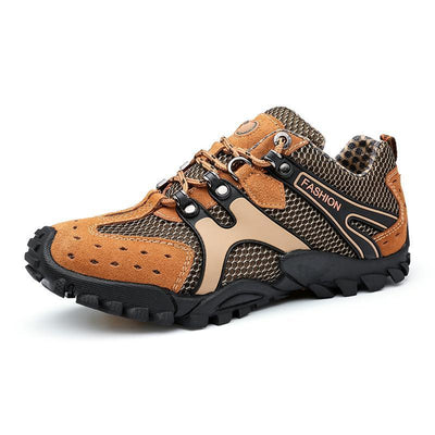 Men Breathable Suede Non-Slip Lace Up Outdoor Hiking Sneakers Shoes
