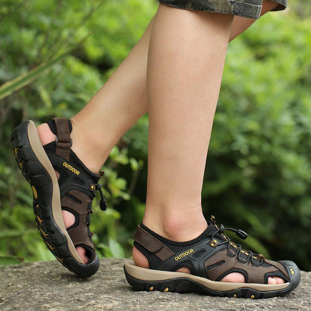 Mens High Quality Leather Sandals Men Shoes