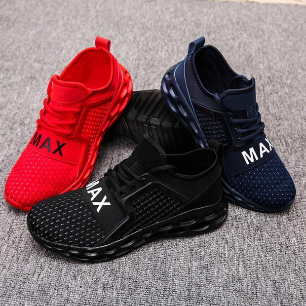 Men Knitted Fabric Lace Up Super Free Sport Casual Sneakers 121224 Shoes