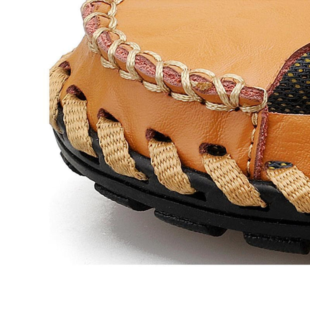 Large Size Men Hand Stitching Hollow Out Slipper Causal Beach Sandals 122505