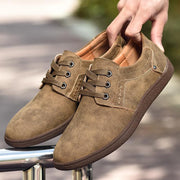 Men  Out Breathable Lace Up Soft Sole Casual Shoes 119547