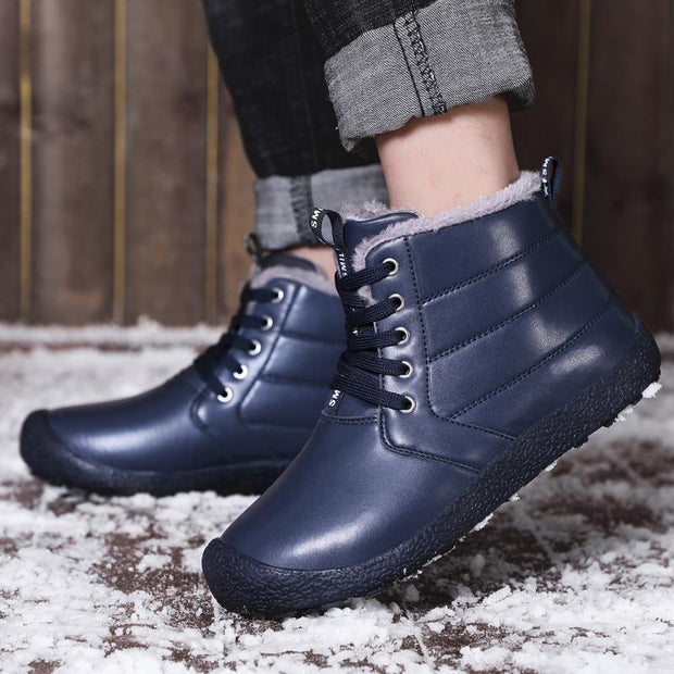 Mens Waterproof High-Top Cotton Shoes Snow Boots 116889 Men Shoes