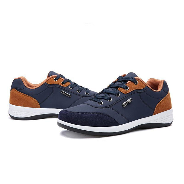 Men Shoes Casual Play Work Suede Leather Sneakers Boy Blue Gray Breathable Comfortable Lace Up Shoe