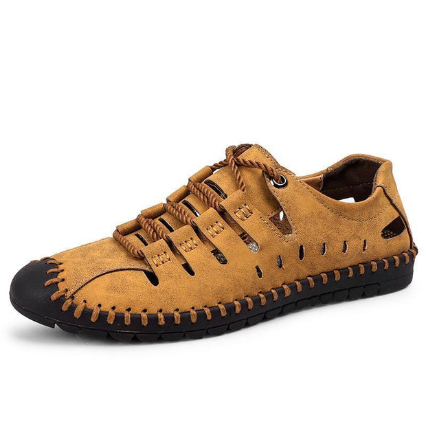 Men's fashion leather beach hole shoes 118553