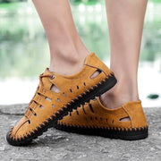 Mens Fashion Leather Beach Hole Shoes 118553 Men Shoes
