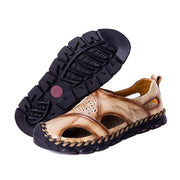 Men's Casual Closed Sandals Slip Openwork Hole Large Size Beach Shoes Sandals 129065