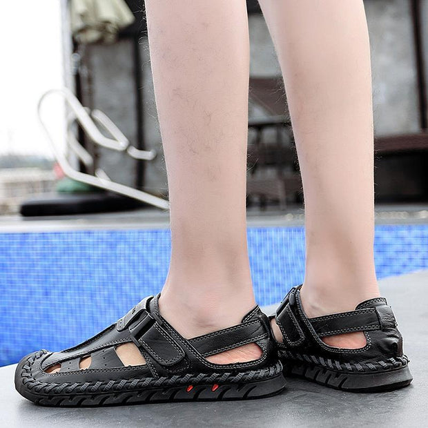 Mens Casual Fashion Outdoor Hollow Flat Non-Slip Sandals 124989 Men Shoes